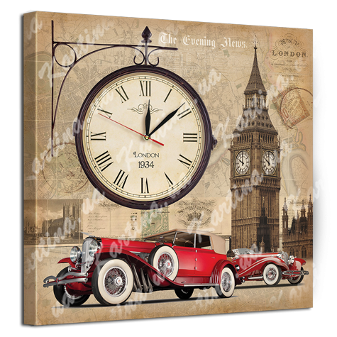 Модульная картина-часы - это картина напечатанная на натуральном холсте