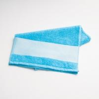 Полотенце с фотографией голубое
