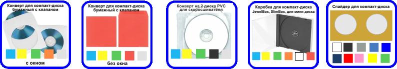 Упаковка CD DVD дисков