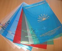 Пластиковые папки-уголки с логотипом